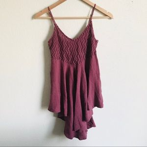O'Neil Gauzy burgundy dress small